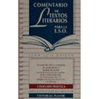 Comentario de textos literarios para la ESO