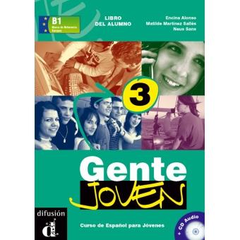 Gente joven 3 Libro del alumno más CD audio B1