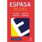Espasa mini diccionario. Español-francés/francés-Español