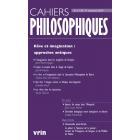 Reve et imagination approches antiques (Cahiers philosophiques, n. 159 (4/2019)