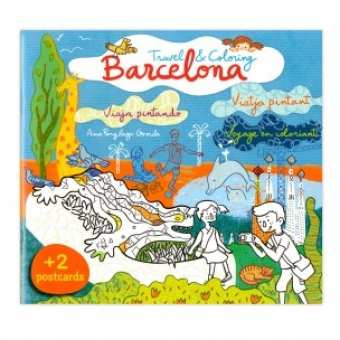BARCELONA. Travel & Coloring