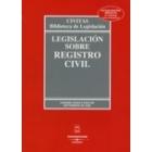 Legislación sobre registro civil. 26 ed.