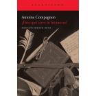 ¿Para qué sirve la literatura? (Lección inaugural en el Collège de France, 2006)