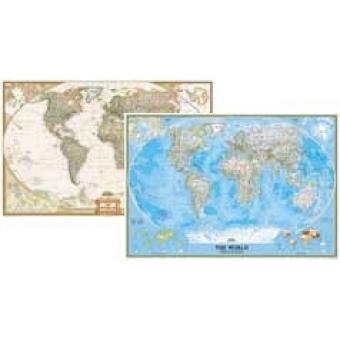 Mapamundi Antiguo (plastificado) 160x111