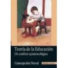 Teoría de la educación : un análisis epistemológico