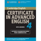 Cambridge Advanced Certificate in English 4 Book with answers