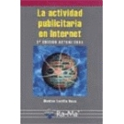La actividad publicitaria en Internet