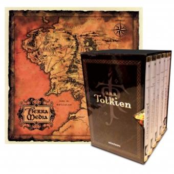 Estuche Tolkien 6 volúmenes (El Señor de los Anillos / El Hobbit / El Silmarillion / Los Hijos de Húrin) Incluye 8 postales + mapa de la Tierra Media
