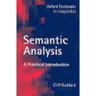 Semantic Analysis. A practical introuduction