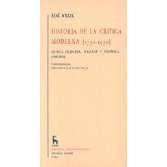 Historia de la crítica moderna