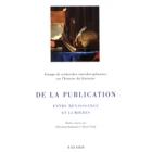 De la publication entre Renaissance et Lumières