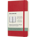 Moleskine* Agenda Semanal 12 meses Horizontal Pocket (rústica-rojo)