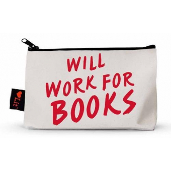 Will Work For Books Pencil Case