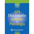 APA : Diccionario Conciso de psicología (American Psychological Association)
