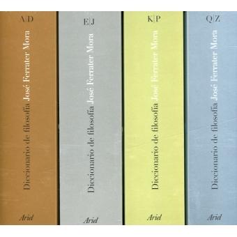 Diccionario de filosofía, 4 vols. (Pack estuche)