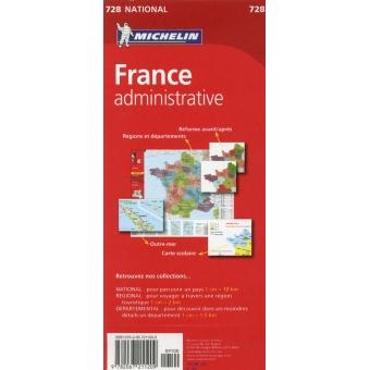 Francia Administrativa (nacional-rojo) 728 1/2.000.000