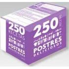 250 recetas (Caja-archivador) Postres deliciosos