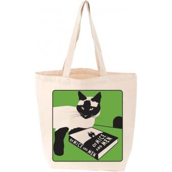 Of Mice and Men Cat Tote Bag (Love Lit)