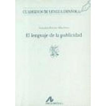 Cuadernos de lengua española. El lenguaje de la publicidad (k)