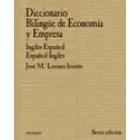 Diccionario bilingüe de economía y empresa : inglés-español/español-inglés