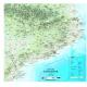 Mapa de Catalunya Físic Mini 47x49