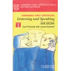 Cambridge first certificate (casettes). Listening and speaking. New ed