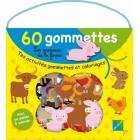 Les animaux de la ferme - Tes activités gommettes et coloriages (Malette + 60 gommettes avec un poster à colorier)