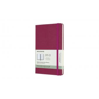 Moleskine* Agenda Semanal 18 meses Large (cartoné-rosa)