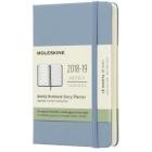 Moleskine* Agenda Semanal 18 meses Pocket (cartoné-azul ceniza)