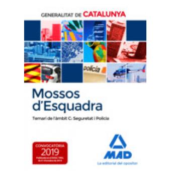 Mossos d`Esquadra. Temari de l´àmbit C: Seguretat i Policia (Octubre 2019)