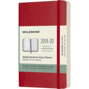 Moleskine* Agenda Semanal-Cuaderno 18 meses Pocket (rústica-rojo)