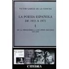 La poesía española de 1935 a 1975.I De la preguerra a los años oscuros