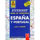 Everest mapa de carreteras España y Portugal : escala 1:500000