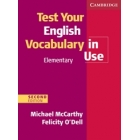 Test your English Vocabulary in Use Elementary with key