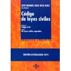 Código de leyes civiles. Contiene el código civil y otras 40 leyes civiles especiales