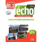 Écho Niveau B1.2 - 2ed - Cahier d'apprentissage + CD audio 2ed