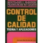 Control de calidad teoría y aplicaciones