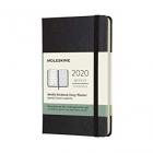 Moleskine* Agenda-Cuaderno Semanal 12 meses Pocket (cartoné-negra)
