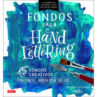 Fondos para handlettering. 15 fondos creativos con pincel, brush pen, sellos...