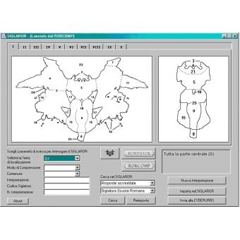 RORCOMP ( Software para elaboración Psicograma Rorschach y archivo completo Protocolo)