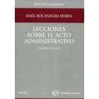 Lecciones sobre el acto administrativo