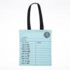 Library Card Tote Bag Mint