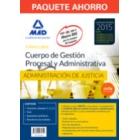 Paquete Ahorro Gestión Procesal y Adtva. (Temario volumen 1, 2 y 3, Test, Supuestos prácticos, Simulacros examen y acceso Campus Oro