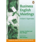 Business English meetings instant agendas
