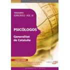 Psicólogos de la Generalitat de Cataluña. Temario específico Vol. III.