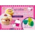 Cupcakes & muffins. 50 exquisitas recetas en prácticas fichas y 12 moldes de silicona