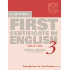 Cambridge First Certificate in English 3. Teacher's Book