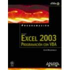 Excel 2003. Programacion VBA (+ CD-ROM)