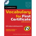 Cambridge Vocabulary for First Certificate with Answers + Audio CD