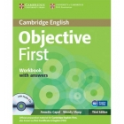 Objective First Certificate (Third ed,) Workbook with answers with Audio CD